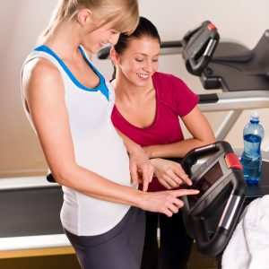female friends at treadmill